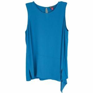 Vince Camuto Turquoise Sleeveless Asymmetrical Hem